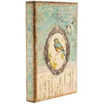 Vintage Bird Print Lined Book Box