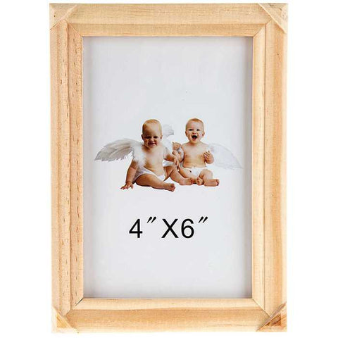 "4"" x 6"" Wood Picture Frame with Glass"