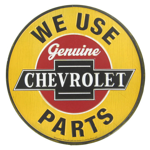 "12"" Genuine Chevrolet Parts Embossed Tin Sign"