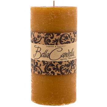 "3"" x 6"" Gold Baked Apple Distressed Pillar Candle"