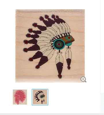 Native American Headdress Rubber Stamp