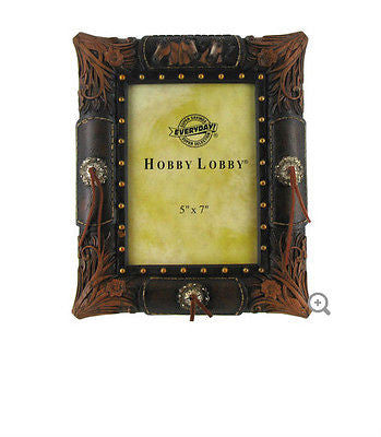 "5"" x 7"" Leather Western Photo Frame"