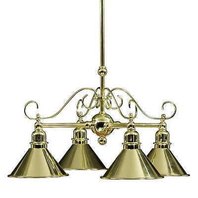"16"" Brass 4-Light Mini Chandelier Parlor Brass Art Deco"