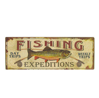 Fishing Expeditions Tin Sign
