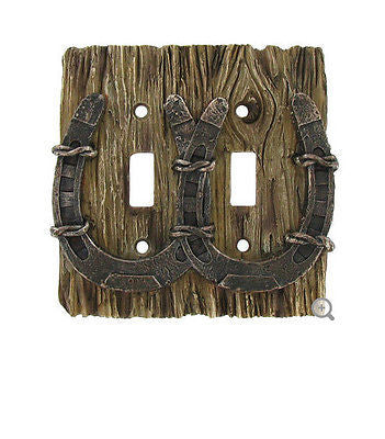 Horseshoe Double Switch Plate Cover