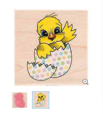 Chick in Cracked Egg Rubber Stamp