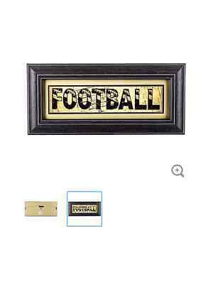 Framed Football Word Print Wall Art