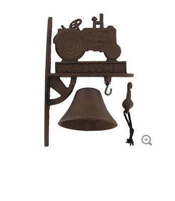 Rust Cast Iron Welcome Tractor Door Bell