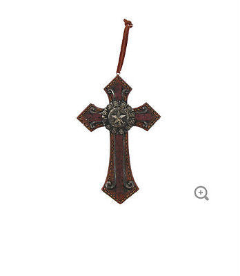 Rustic Cross with Star Emblem