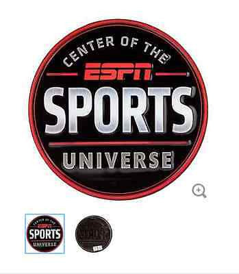 ESPN Sports Universe Embossed Tin Sign