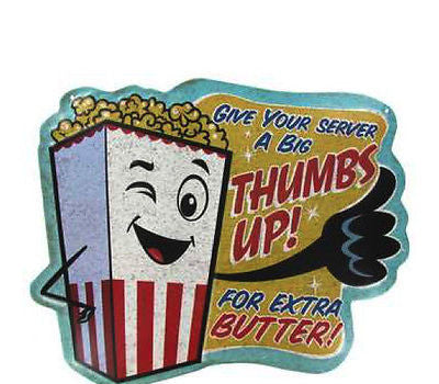 Thumbs Up Embossed Die Cut Tin Sign