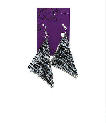 Animal Print Mesh Earrings