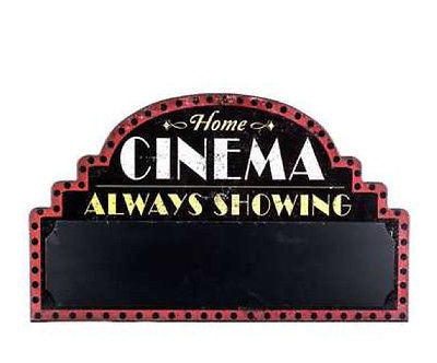 Black Home Cinema Chalkboard