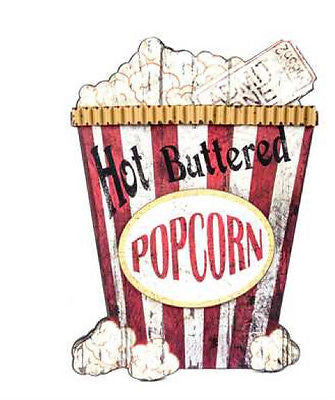 Hot Buttered Popcorn MDF Wall Plaque