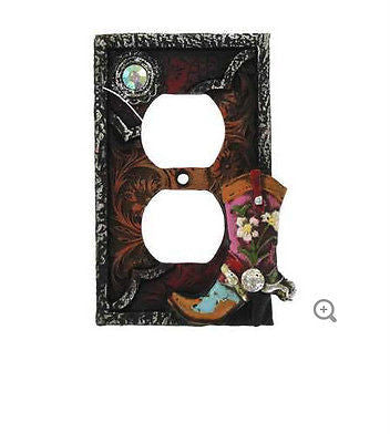 Cowgirl Double Outlet Plate