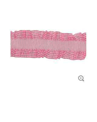 "1 1/2"" Light Pink Ruffled Ribbon with Elastic"