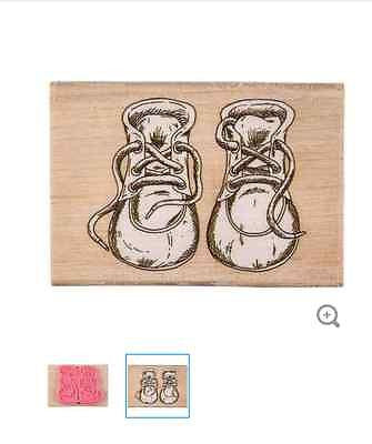 Baby Shoes Rubber Stamp