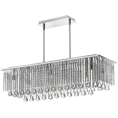 10-Light 10'' Polished Chrome Halogen Chandelier with Crystal Glass Chic