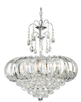 "5-Light 20.25"" Chrome Chandelier Modern Contemporary Pendant Light Fixture"