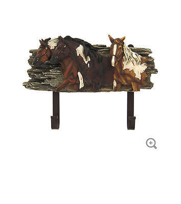 Horse Wall Hanger with Hooks
