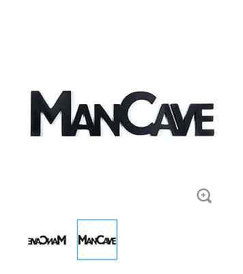 Black MDF Man Cave Word Wall Decor