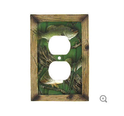 Fish Double Outlet Plate