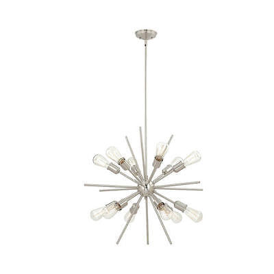 12-light 27.5'' Chandelier Atomic Sputnik Starburst Star Chic Light Fixture