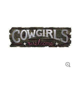Cowgirls Welcome Mirrored Letters Wall Plaque