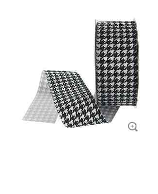 "1 1/2"" Houndstooth Grosgrain Ribbon"