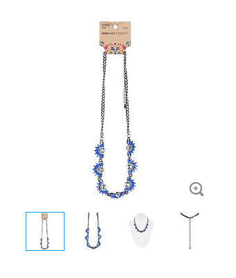 Periwinkle Daisy Focal Necklace