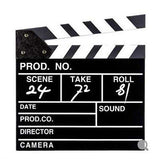 Black & White MDF Movie Clapboard