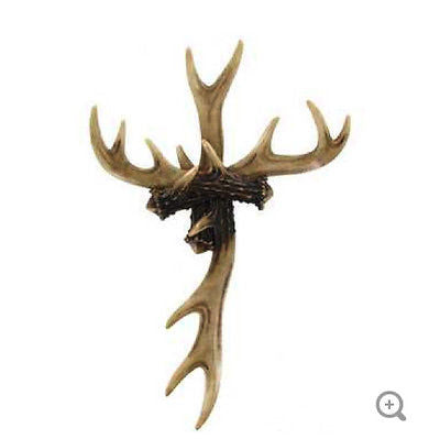 Antler Polyresin Cross