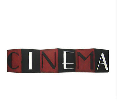 Red & Black Cinema Metal Wall Decoration