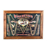 Winchester Ammunition Embossed Tin & Wood Sign
