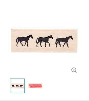 Horse Line Rubber Stamp