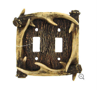 Antler Double Switch Cover