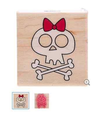 Clarice Crossbone Rubber Stamp