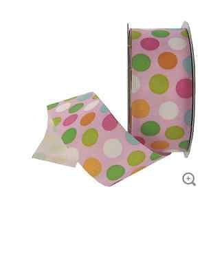 "1 1/2"" Pastel Butterfly Dots Ribbon"