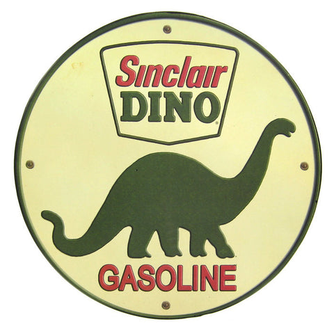 "12"" Sinclair Dino Gasoline Tin Sign"