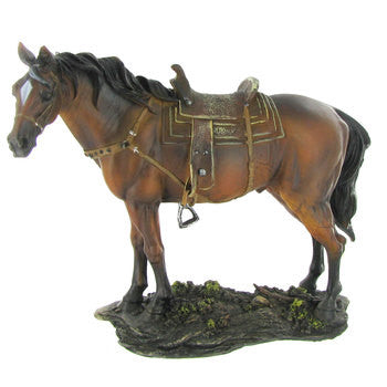 Polyresin Horse with Saddle