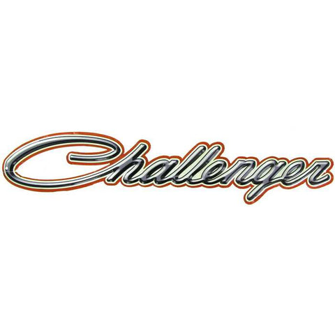 Challenger Embossed Tin High-Gloss Word Sign