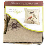 "18"" x 18"" Natural Birds Resting Pillow Cover"