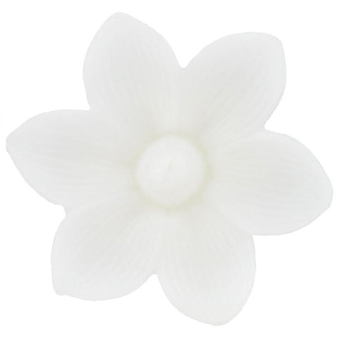 White Large Floating Hibiscus Candle