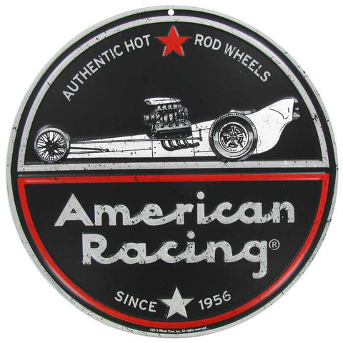 American Racing Embossed Tin Sign