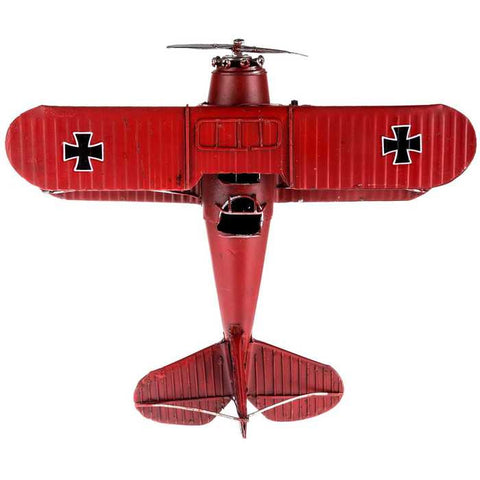 Red Bi-Plane with Black Cross