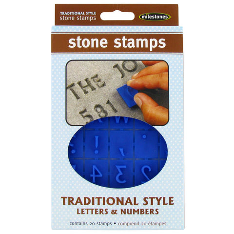 Traditional Letter & Number Stone Stamps