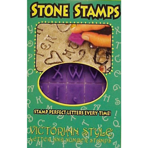 Victorian Letter & Number Stone Stamps