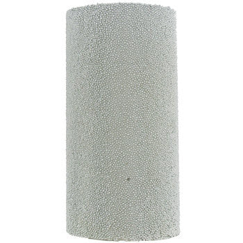 "3"" x 6"" Silver Beaded Metallic Pillar Candle"