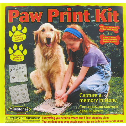 Paw Print Stepping Stone Kit