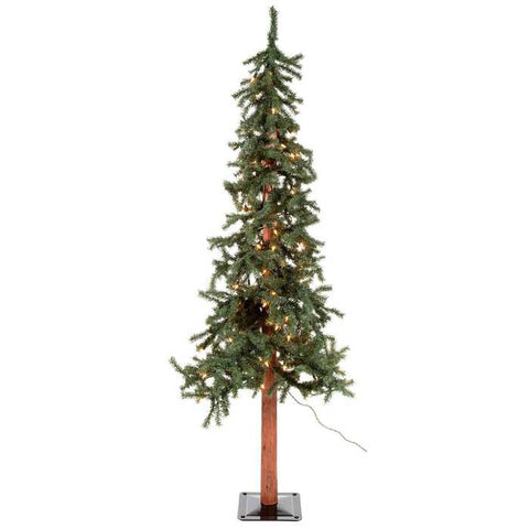 3' Green Alpine Christmas Tree with Lights